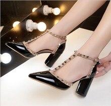 ZOUDKY 2018 новые модные матовые свадебные туфли из металла hollowed высокой Туфли на каблуке