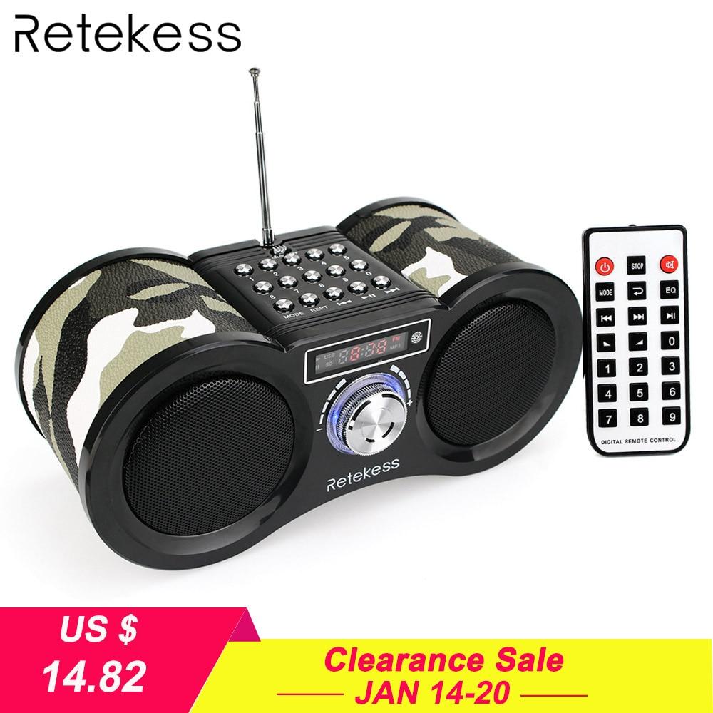 Retekess V113 FM רדיו סטריאו הדיגיטלי רדיו מקלט רמקול USB דיסק TF כרטיס MP3 מוסיקה נגן הסוואה + שלט רחוק