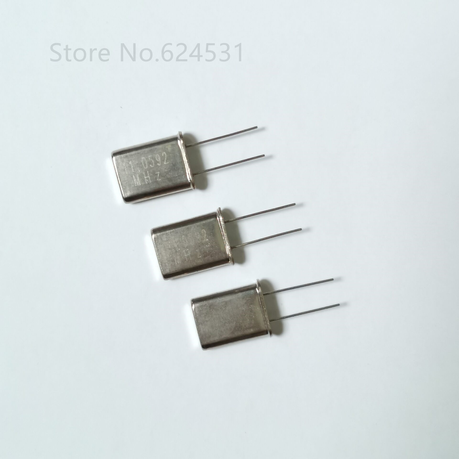 10pcs In-line HC-49U Quartz Crystal 11.0592MHZ 11.0592M Passive Crystal Resonator