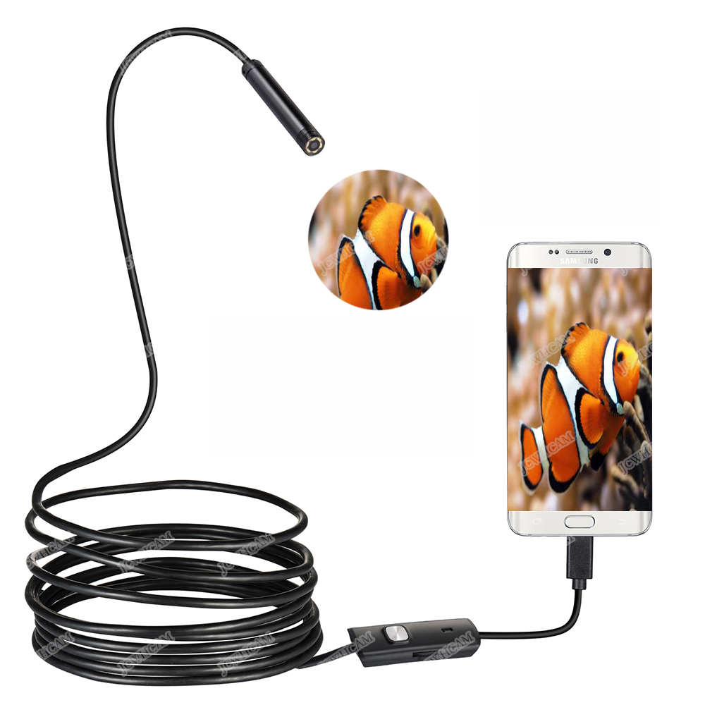 HD Camera 5.5/7/8mm Diameter Android Endoscope