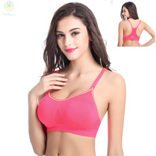 2016 Women Super Elasticity Lemon Green/Red/Pink Sports Bra Fitness Gym Yoga Running Full Cup Sleep Brassiere Chest Support