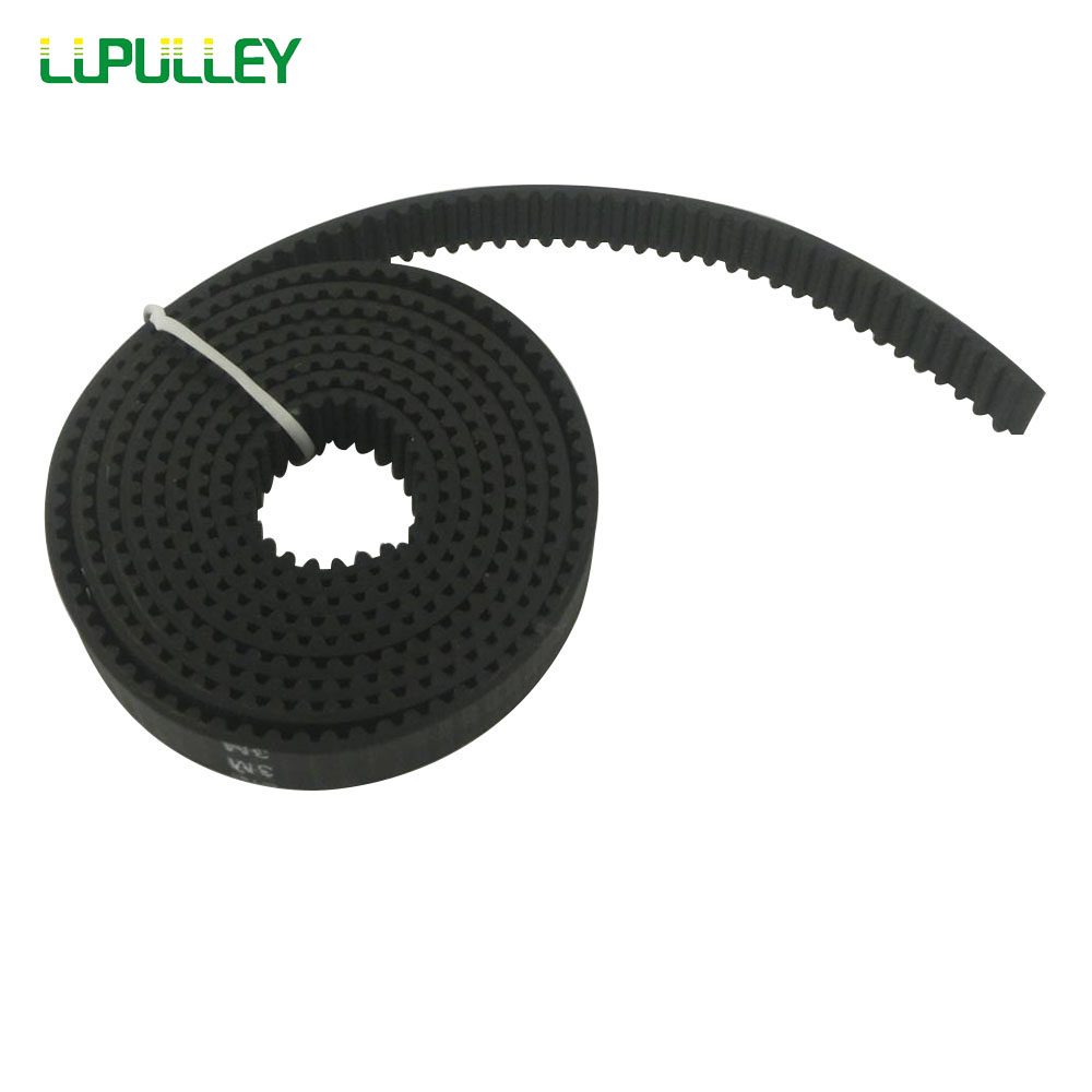 LUPULLEY 3M Synchronous Opened Timing Belt 5Meters Pitch Length 3M-10mm/15mm width Black Rubber Open Timing Pulley Belts 20 60 teeth htd3m timing pulleys 15mm width 180 300mm length timing belts and 3m open timing belt