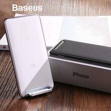 Baseus 10 Вт 3 катушки Беспроводное зарядное устройство для iPhone X/XS Max XR samsung Note 9 Xiaomi OPPO Multifunction Qi беспроводной зарядный коврик