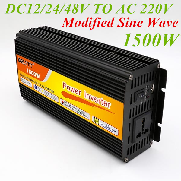 цена на Inverter 12v 220v 1500W Modified Sine Wave Peak Power 3000W