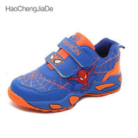 Breathable Spiderman Kids Fashion Sneakers 2018 New Autumn Child Breathable Student Girls Sports Shoes For Boys
