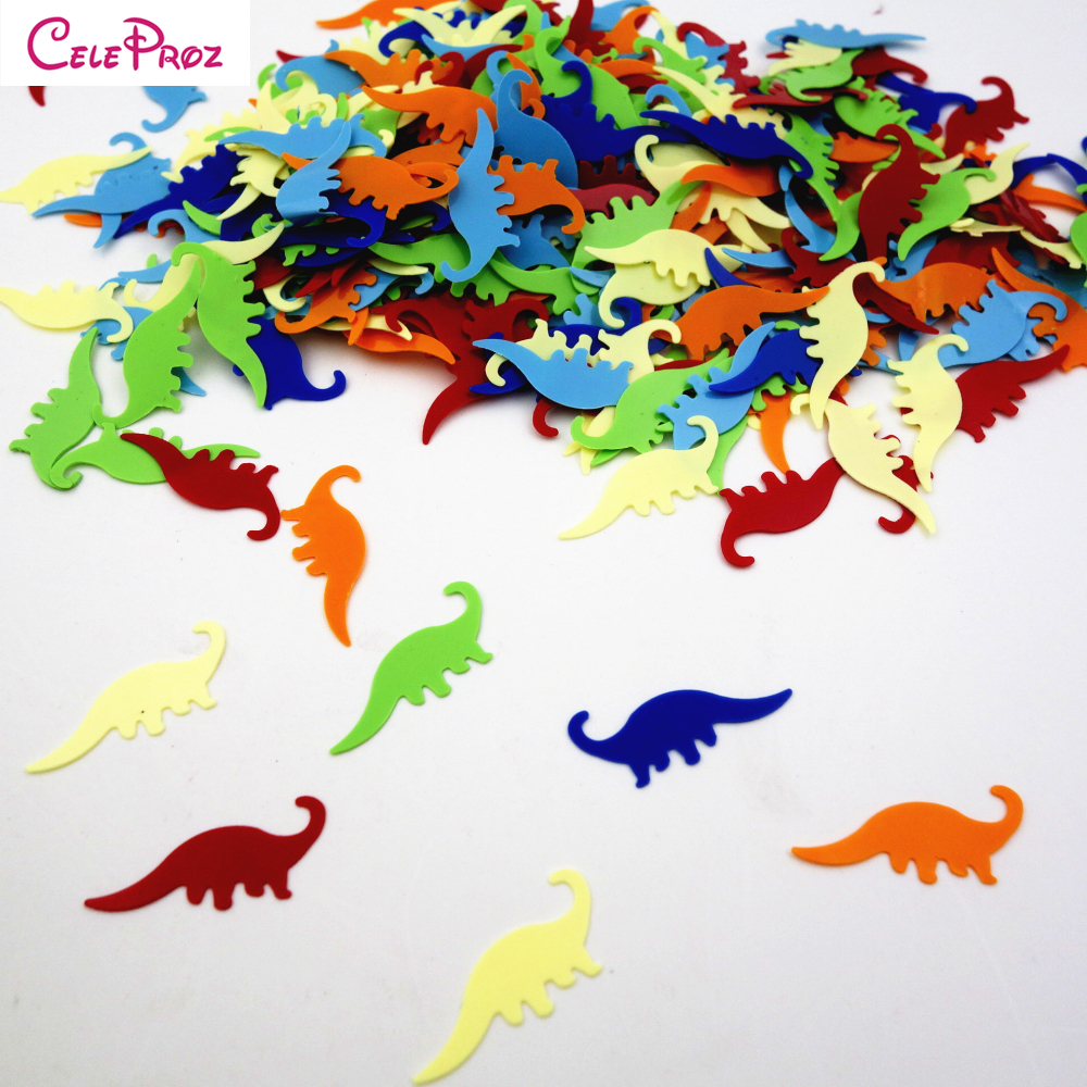15g Dinosaur Table Confetti Boys Kids Party Mixed Color Decorations