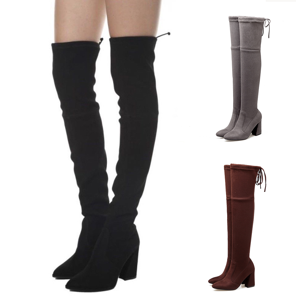DoraTasia 6 colors brand women shoes woman boots plus sizes 33-46 autumn over the knee boots high heels sexy party boots women doratasia brand new best quality plus size 33 43 high heels over the knee boots women shoes sexy winter party boots shoes woman