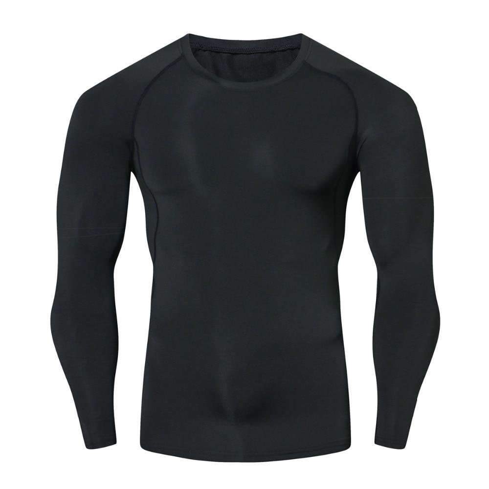 الرجال ضغط قمصان MMA Rashguard حفاظ على اللياقة البدنية طويلة الأكمام طبقة قاعدة الجلد ضيق الوزن رفع مرونة القمصان أوم