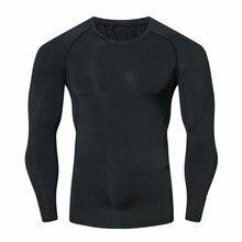 Men Compression Shirts MMA Rashguard Keep Fit Fitness Long Sleeves Base Layer Skin Tight Weight Lifting