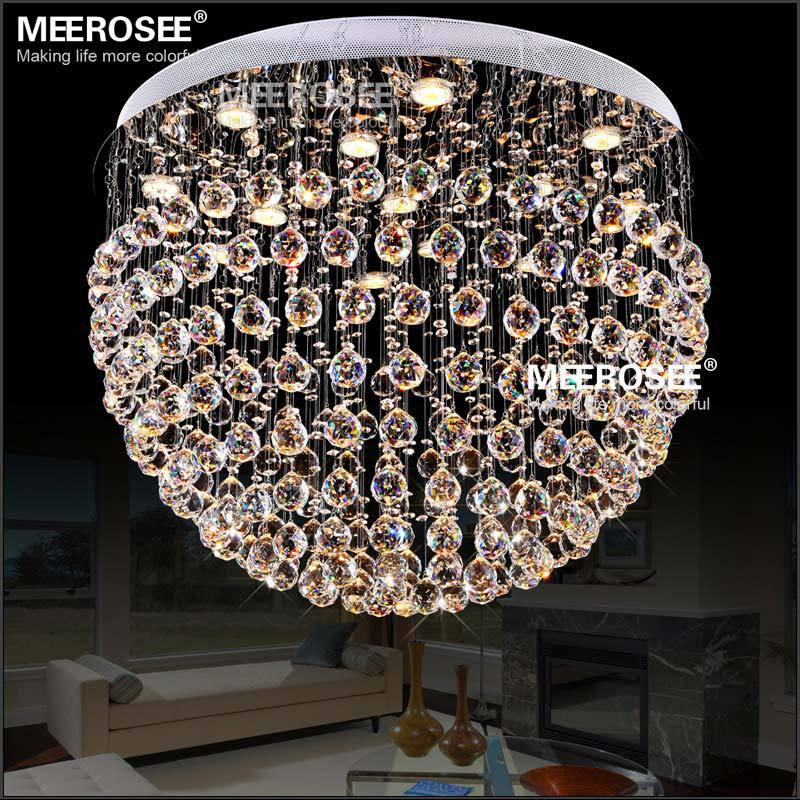 Modern Crystal Chandelier Light Fixture Round Crystal Lamp Flush Mounted Chandelier Lighting For Dining Light Home Decor|fitting glass|lamp shade ceiling light|lamp puzzle - title=