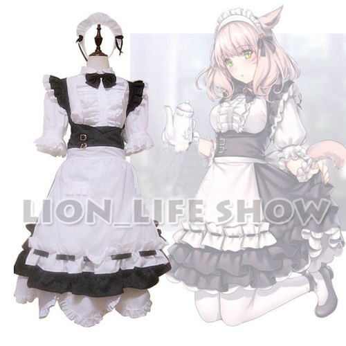 US $93 24 15% OFF|Final Fantasy XIV FF14 Miqo'te Maid Servant Uniform Dress  Cosplay Costume Outfit on Aliexpress com | Alibaba Group