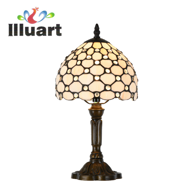 Tiffany Table Lamp Stained Glass Bedside Reading Lamp