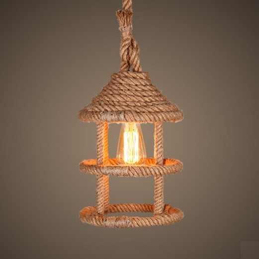 Скандинавский чердак плетенная обувь точечная эдисоновская винтажная Подвесная лампа для столовой Подвесная лампа для внутреннего освещения Lamparas
