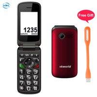 VKworld Z2 Elder Phone Flip Cell Phones TFT 2 4 Inch Screen Big Font Big Key