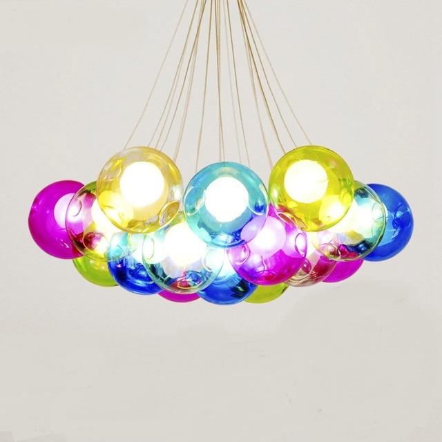 1 PC Stairs Lights Modern Minimalist Creative Pendant Light Personality Art  Dining Room Color Mediterranean Glass