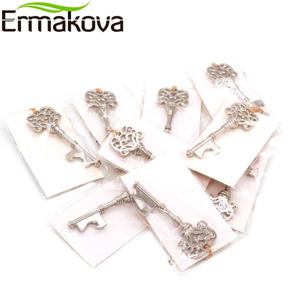 ERMAKOVA Set of 50 Vintage Metal Skeleton Key Bottle Opener with ...