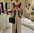 Abaya Turca Ninguno Mujeres Top de Algodón Para Adultos Chilaba Formal El 2016 Saudita Turquía Punto Caliente Abaya Musulmán Vestido Impreso Cardigan