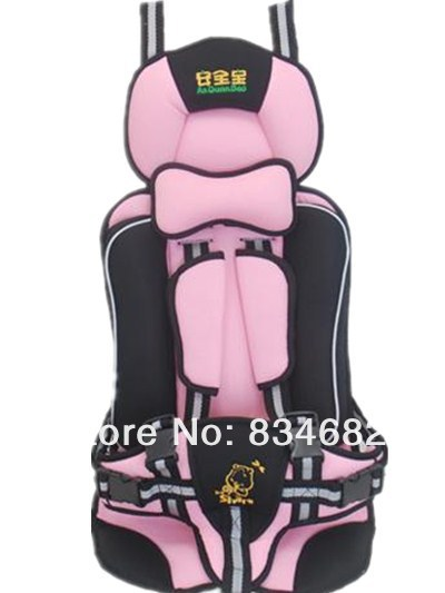 New Baby Car Seat, Child Car Safety Seat, Safety Car Seat for Baby of 9-25KG and 9 Months - 5 Years Old,Pink Color, Orange