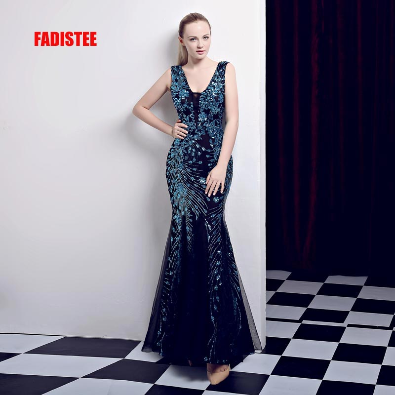 FADISTEE New arrival classic party   dress     evening     dresses   prom bling Vestido de Festa luxury pattern sequins style free shipping