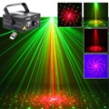 New IR Remote 2 Lens 8 Patterns RG Laser Crossover Effect Projector 3W Blue LED Mixing Effect DJ KTV Show Stage Lighting AZ16RG