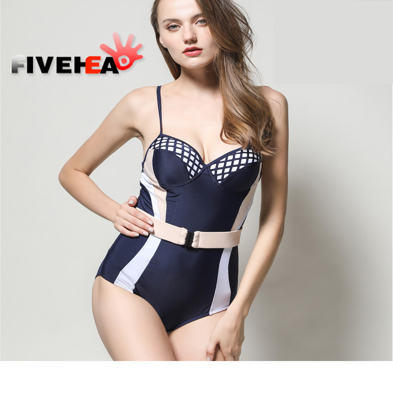 Sexy Print Leaf Swimwear Women One Piece Swimsuit 2017 1 Thong Bathing Suit Swim Wear Beach Bandage Monokini Female 2017 sexy black swimsuit one piece swimwear women backless female swimsuit high cut thong monokini pad bathing suit swim wear