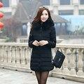 2017 nova jaqueta de inverno mulheres parka inverno clothing feminino casaco de médio-longo de algodão acolchoado casaco quente fino de alta qualidade mz675