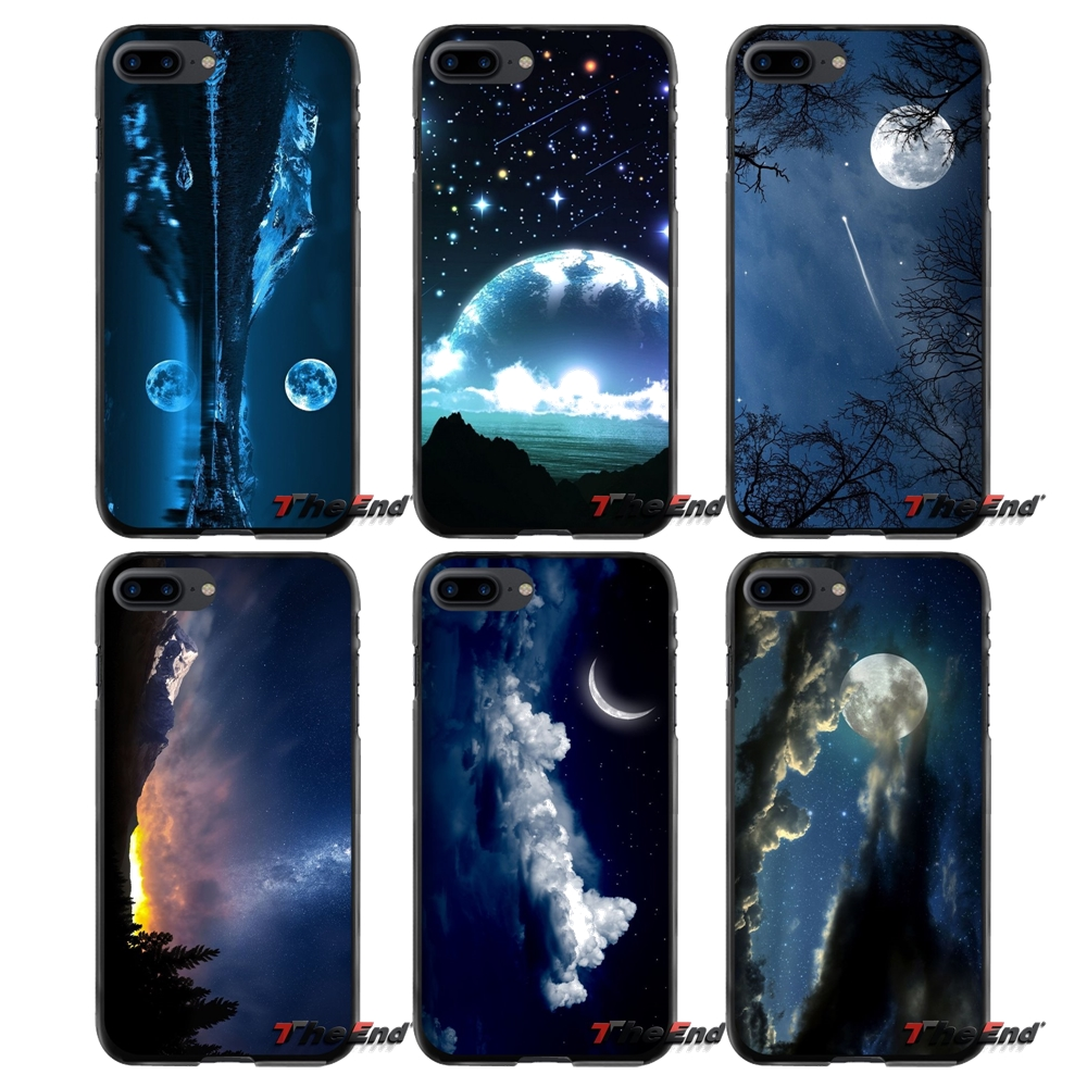 Accessories Phone Cases Covers For Apple iPhone 4 4S 5 5S 5C SE 6 6S 7 8 Plus X iPod Touch 4 5 6 Nightsky