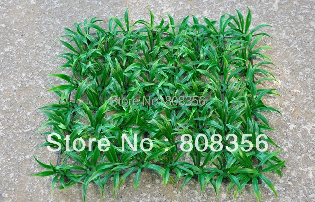 4Pcs 25*25cm Artificial Plastic Grass Simulation Milan Lawn Green Turf Small Spring Grasses Home Decoration Free Shipping