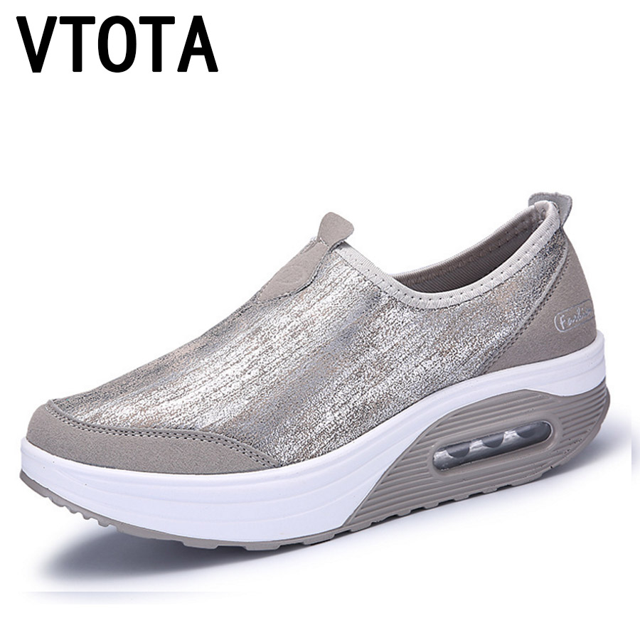 VTOTA Women Platform Shoes Spring Summer Flats Women Loafers Slip On Shoes Women Tenis Feminino Casual Shoes Woman Sneakers G18