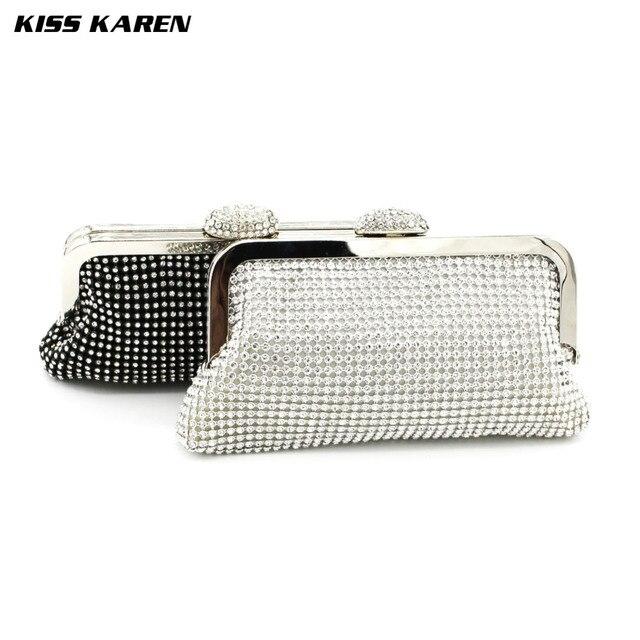 Kiss Karen Shining Diamond Noble Beading Lady Women Evening Bags bolsos mujer Party Clutches Bags Club Elegant Minaudiere