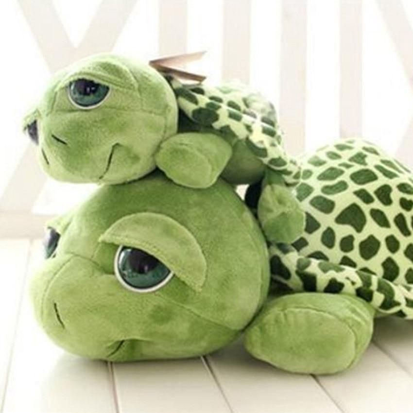 2018 Ny Ankomst 20 cm hær grøn skildpadde med store øjne plys legetøj skildpadde dukke skildpadde børn som fødselsdag ...