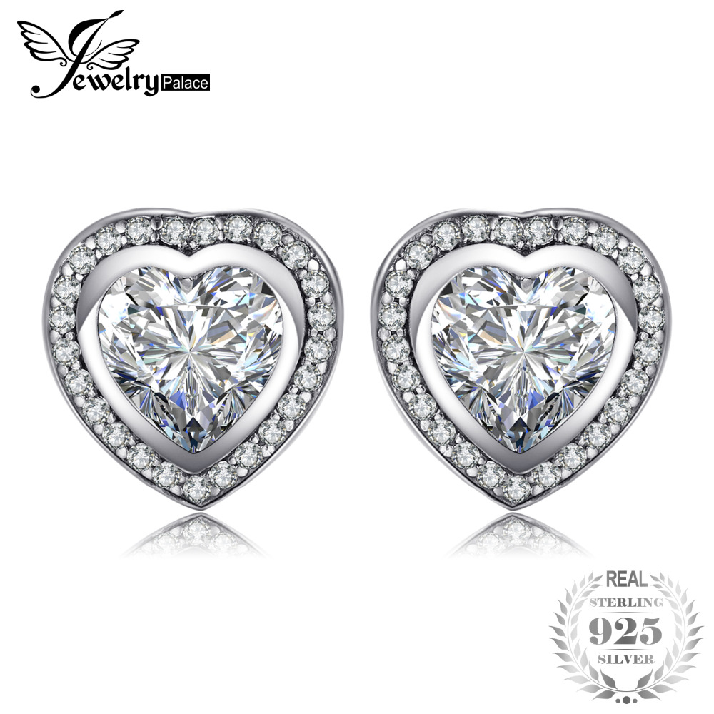 JewelryPalace 925 Sterling Silver OnLy Heart Earring Studs 925 SterLing SiLver  Jewelry Wedding Earring for Women Fine JewelryJewelryPalace 925 Sterling Silver OnLy Heart Earring Studs 925 SterLing SiLver  Jewelry Wedding Earring for Women Fine Jewelry