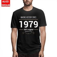 For Male Making History Since 1979 T Shirt Anime Camiseta Round Neck S-6XL Homme