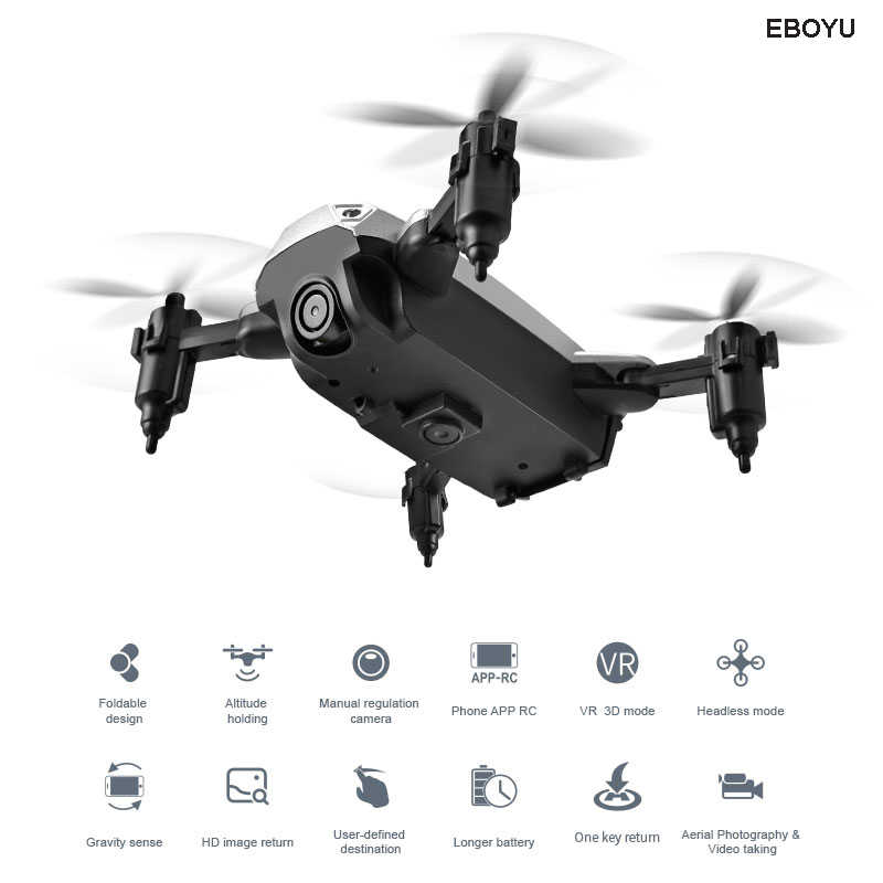 XKY KY301 2 4Ghz Fold RC Drone with WiFi FPV HD Camera Altitude Hold  Headless Mode One Key Return/Land/Off RC Quadcopter Drone