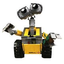 21303 строительные блоки WALL E Robot, игрушка 687 шт., модель робота, строительные блоки, игрушки, детские совместимые идеи, игрушки WALL E