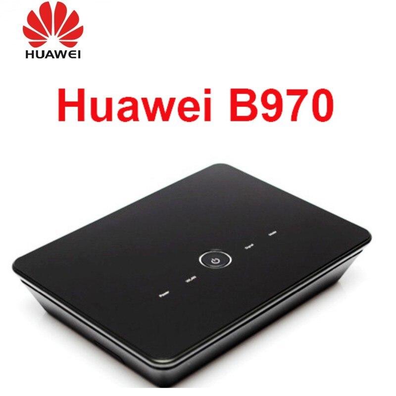 Routeur sans fil Huawei B970 3G débloqué routeur WIFI HSDPA avec emplacement pour carte SIM 4 ports LAN