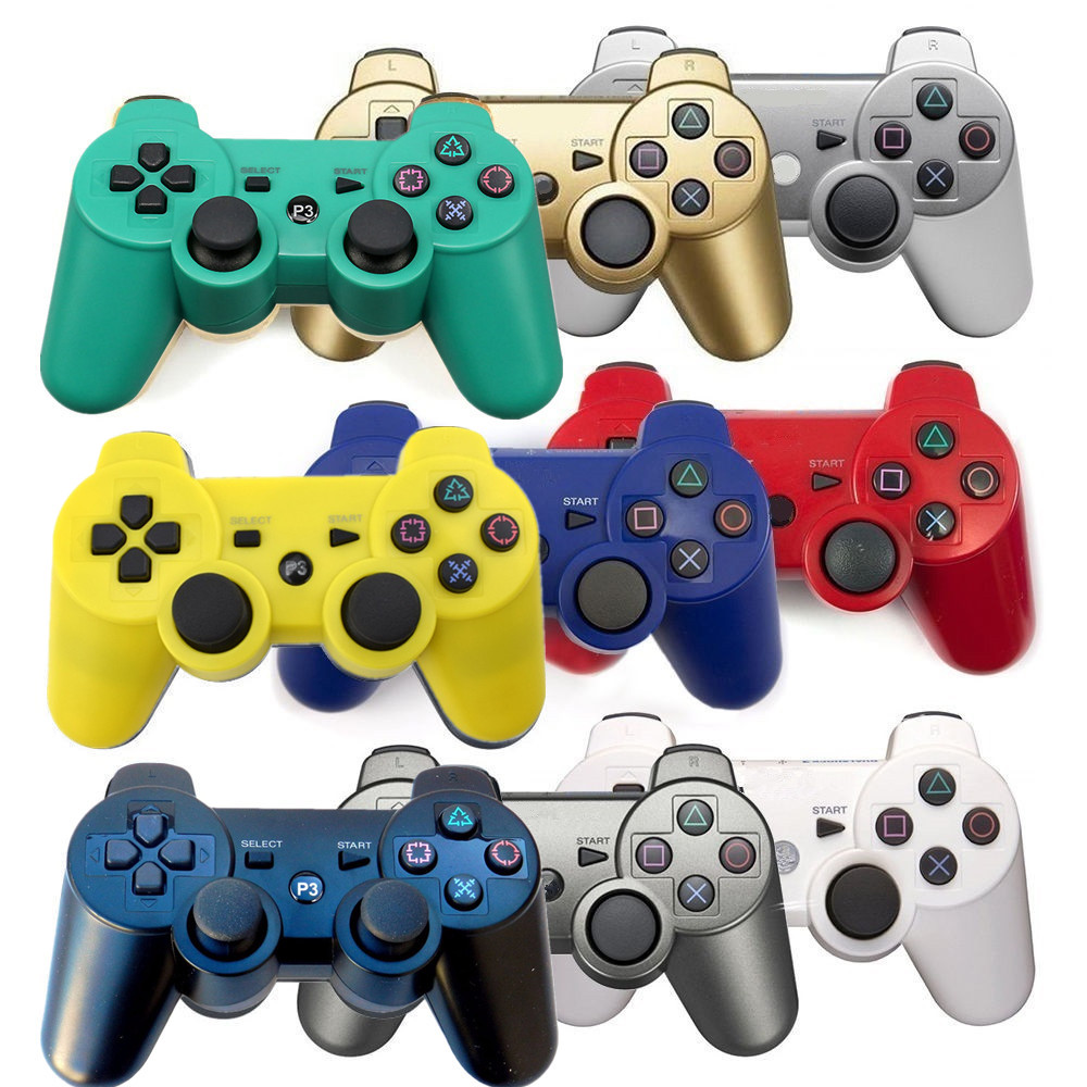 For SONY PS3 Controller 2.4GHz Dualshock Bluetooth Gamepad Joystick Wireless Console For Sony Playstation 3 SIXAXIS Controle sixaxis blueloong 2pcs red and blue color wireless bluetooth joystick gamepad for dualshock 3 playstation 3 ps3 controller