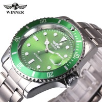 WINNER Brand Men S Sports Watches Stainless Steel Strap Male Automatic Mechanical Wrist Watches Calendar Date