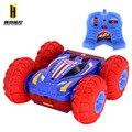 Frete grátis rolar toy cars carro de controle remoto inflável duplo SUV 4WD RC Carro de Brinquedo elétrico Estável saltando tumbling dublê