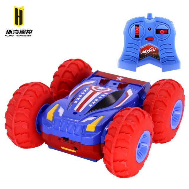 משלוח חינם להתהפך cars מכונית שלט רחוק צעצוע מתנפח קפיצות מכונית RC יציב צעצוע SUV 4WD חשמלי כפול מתגלגל פעלולים