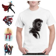 Marvel Avengers Thor Summer Plus Size Loose O-NECK Modal Short Sleeve Mens Tshirt Fashion Casual Tee Shirt A193291