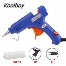 Горячая 20 Вт ЕС/США Plug термоклей пистолет с 30 шт. клей-карандаш AC100V-240V промышленных мини-пушки термо электрический Температура Инструмент
