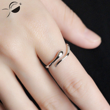 Women Snake Shape Rings Sterling Silver Rings 925 Ring for Women Adjustable Wedding Band Lovers Engagement Jewelry Silver Ring 1