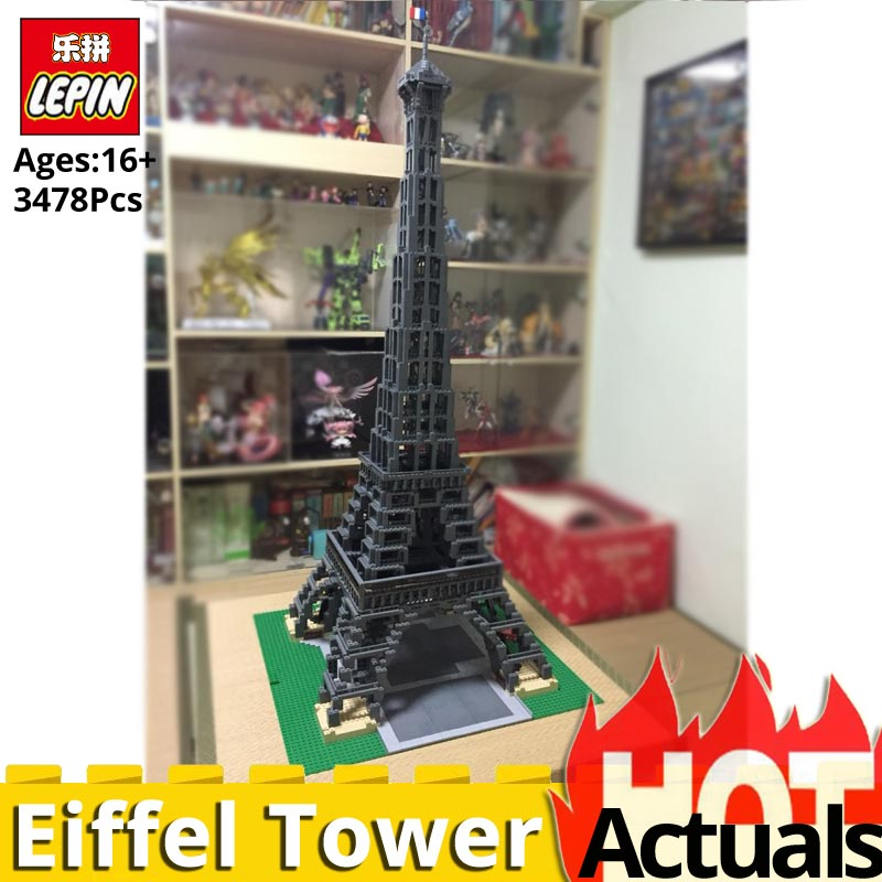 3478PCS LEPIN 17002 Eiffel Tower Model legoinglys 10181 set Building Blocks Bricks educational Toys for Children Collection gift