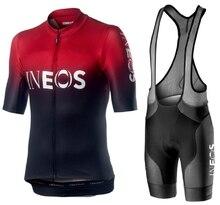 2019 Новый инэос задействуя Джерси летом указан дышащий гоночная команда Спорт велосипедов Джерси Мужская одежда для велосипеда короткие велосипед Джерси З