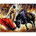 Картина по номерам DIY, Прямая поставка, 40х50 60х75 см, бульдозер и черный бык, фигура, холст, свадебное украшение, картина, подарок