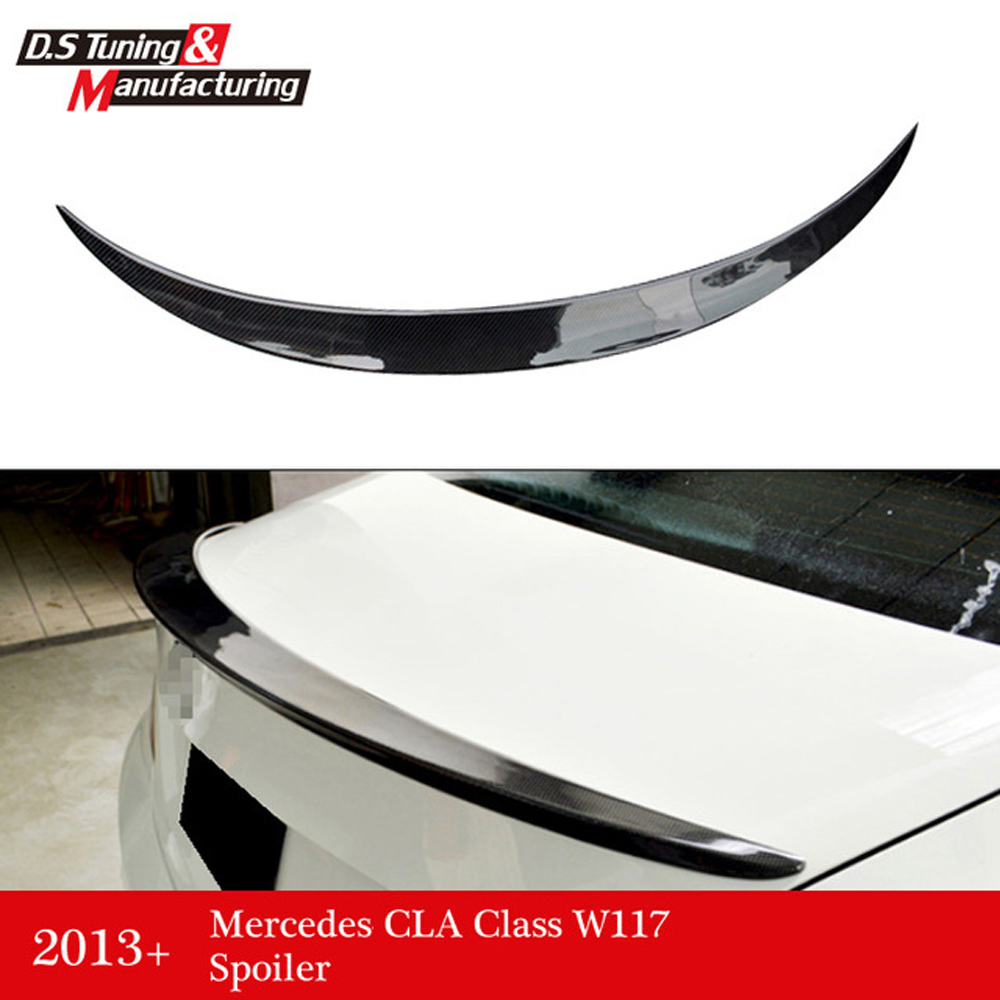 Mercedes CLA W117 style replacement cf rear trunk wing spoiler for benz 2013+ CLA 180 CLA200 CLA 250 mercedes cla w117 amg style replacement cf rear trunk wing spoiler for benz 2013 cla 180 cla200 cla 250