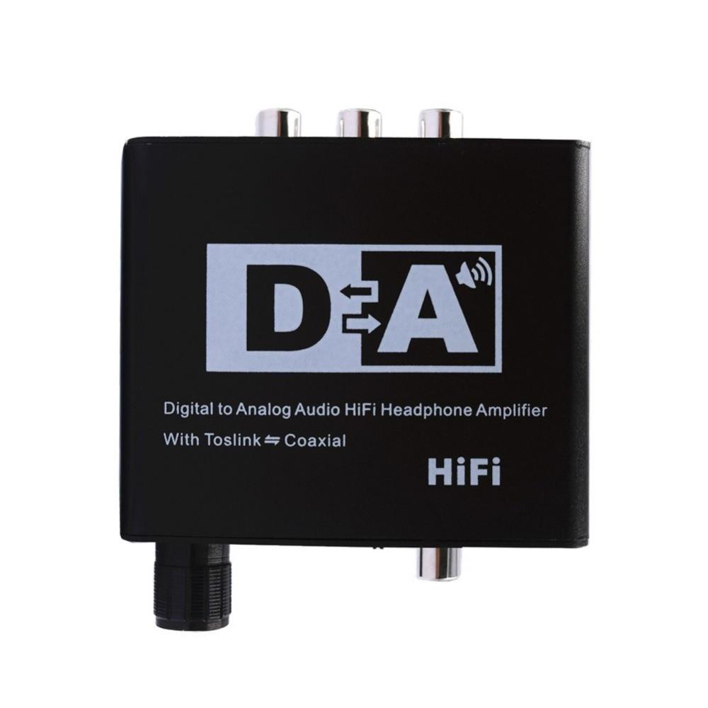 RCA 3.5MM Digital To Analog Audio HiFi Headphone Amplifier Adapter Coaxial Fiber Audio Jack Output Converter US/UK/EU/AU Plug