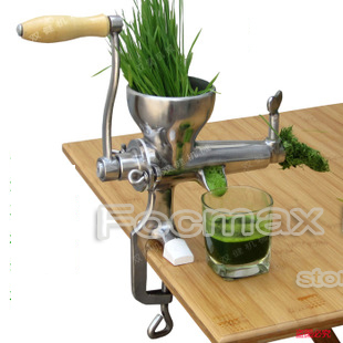 FREE SHIPPING 100% Stainless Steel manual Wheatgrass juicer fruit vegetable citrus juice extrator slow juicer HOT SALE