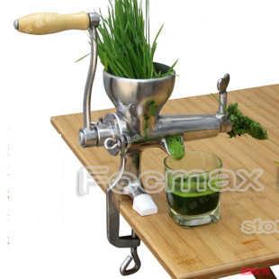 O ENVIO GRATUITO de 100% de Aço Inoxidável manual de Wheatgrass extrator de suco espremedor de frutas vegetal citrus juicer lento VENDA QUENTE